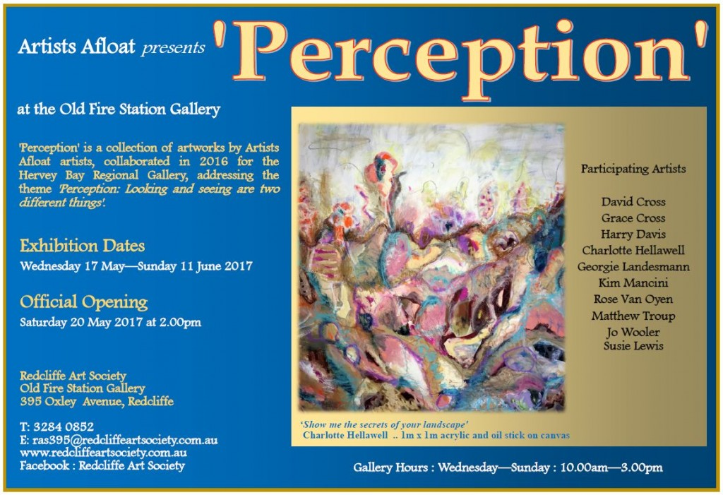 Perception Exhibition 17 May to 11 June 2017